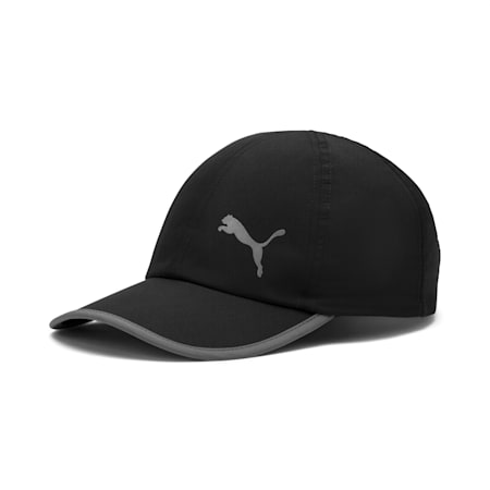 Essentials Running Cap, Puma Black-Cat, small-SEA