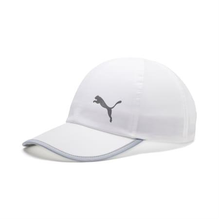 Essentials Reflective Logo Running Cap, Puma White-Cat, small-IND