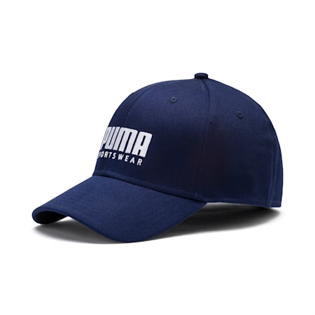 Stretch-fit Baseball Cap, Peacoat, small-IND