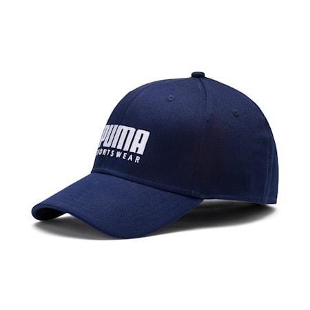 Stretch-fit Baseball Cap, Peacoat, small-SEA