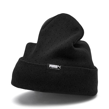Women's Fold Up Beanie, Puma Black, small-IND