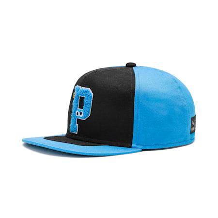 キッズ セサミストリート FB キャップ, Puma Black-Bleu Azur, small-JPN