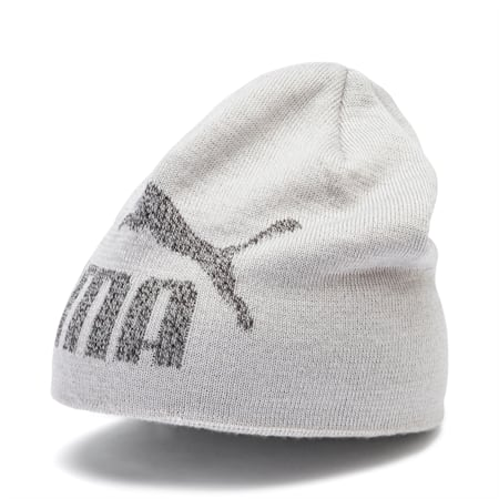 Essentials Logo Kids' Beanie, Light Gray Heather-No 1, small-IND