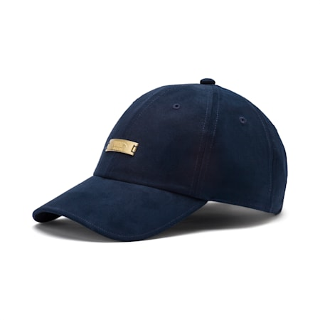 Winterised Suede Baseball Cap, Peacoat, small-IND
