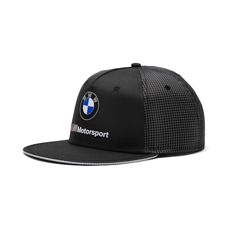BMW M Motorsport Flat Brim Cap, Puma Black, small