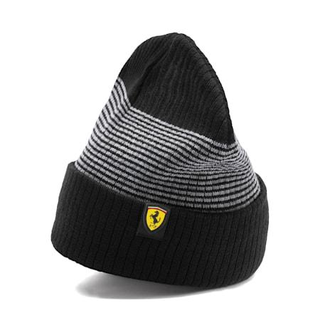 Gorro de lana Scuderia Ferrari para fanáticos, Puma Black, pequeño