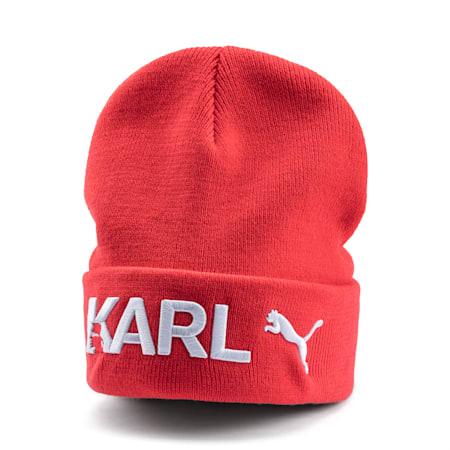 PUMA x KARL LAGERFELD Beanie, High Risk Red, small