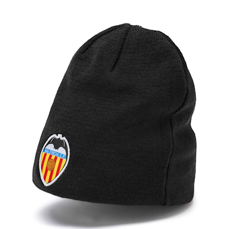 Valencia CF Reversible Beanie, Puma Black-Vibrant Orange, small