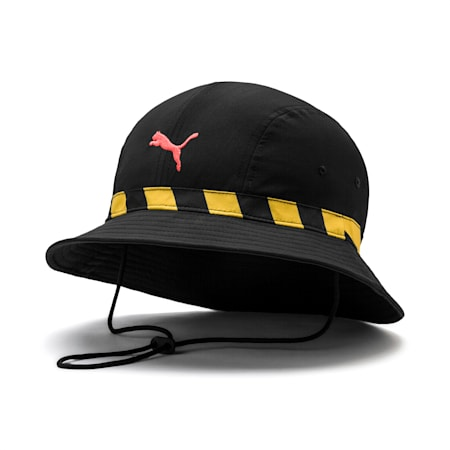 Man City Football Culture Hat, Puma Black-Georgia Peach, small