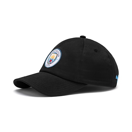 Man City Team Cap, Puma Black-Team Light Blue, small-SEA