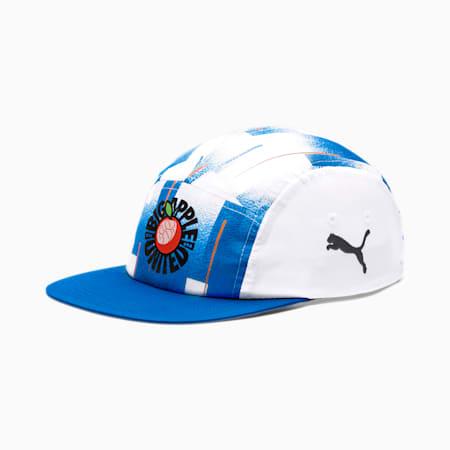 New York Influence Pack Football Cap, White-Electric Blue Lemon-NY, small