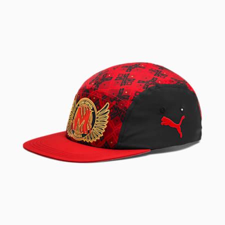 Czapka piłkarska z pakietu New York Influence, Puma Black-High Risk Red-MOW, small
