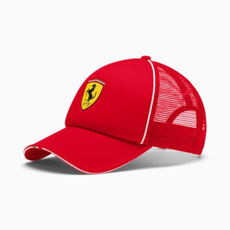 Scuderia Ferrari Fanwear Trucker Cap, Rosso Corsa, small-SEA