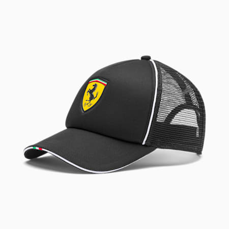 Scuderia Ferrari Fanwear Trucker Cap, Puma Black, small-SEA
