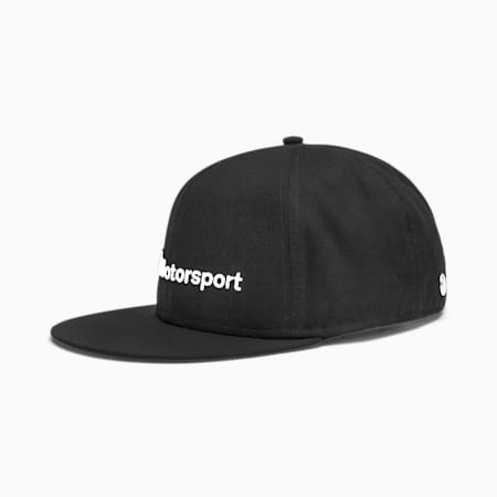 BMW M Motorsport Flat Brim Cap, Puma Black, small-SEA