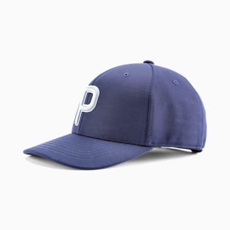 P Snapback Men's Golf Cap, Peacoat, small