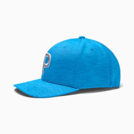 P Snapback Men's Golf Cap, Ibiza Blue, small