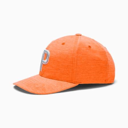 P Snapback Men's Golf Cap, Vibrant Orange, small