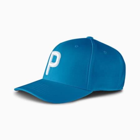 Casquette Snapback de golf P pour homme, Digi-blue, small