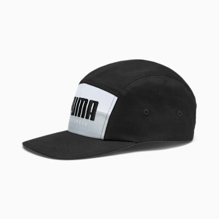 PUMA 5 Embroidered Logo Panel Cap, Puma Black-High Rise, small-IND