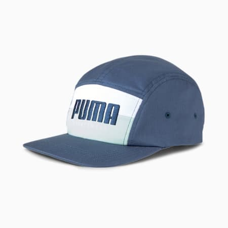 PUMA 5 Panel Cap, Dark Denim-Mist Green, small