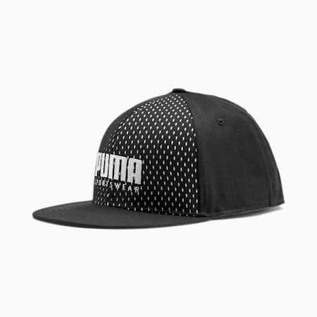 PUMA SF Reflective Tec Flatbrim Cap, Puma Black, small-IND