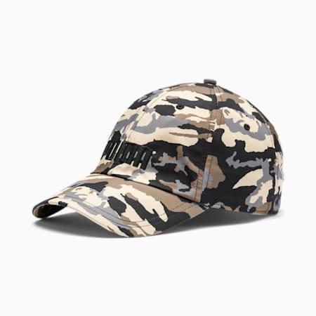 Style Logo Cap, Puma Black-Pebble-AOP, small-IND