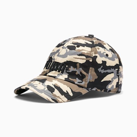 Style Logo Cap, Puma Black-Pebble-AOP, small