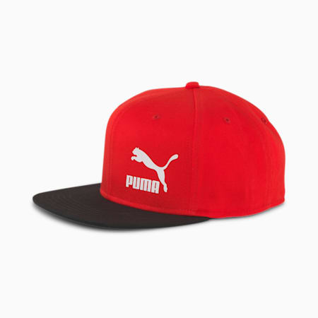 Classics ColourBlock Cap, High Risk Red-Puma Black, small