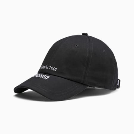 Archive Revive Embroidered Logo BB Cap, Puma Black, small-IND