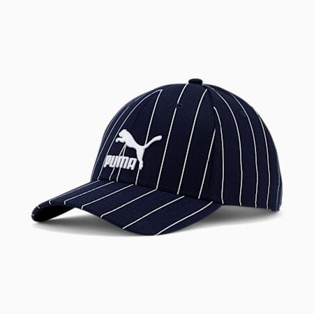 Archive Logo Baseball Cap, Peacoat-Pinstripe, small