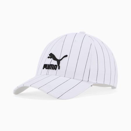 Archive Logo Baseball Cap, Puma White-Pinstripe, small