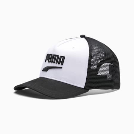 Basketball Trucker Cap, Puma White-Puma Black, small