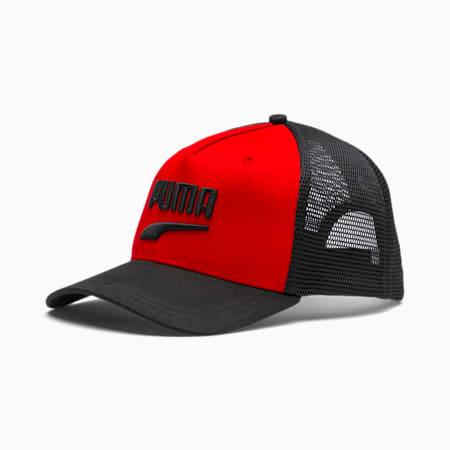 Basketball Trucker Cap, High Risk Red-Puma Black, small