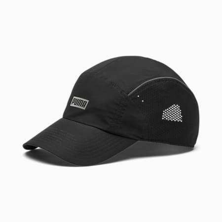 Performance Reflective Logo Running Cap, Puma Black, small-IND