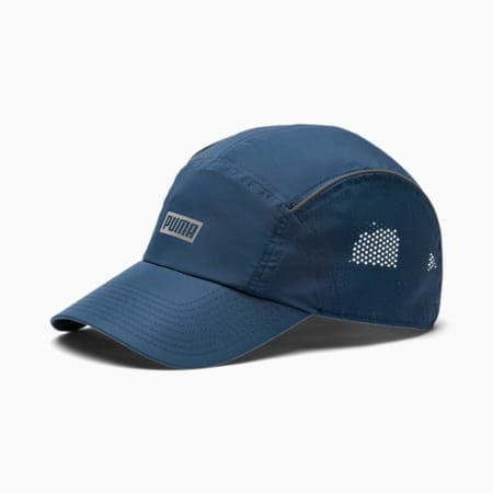 Performance Running Cap, Dark Denim, small