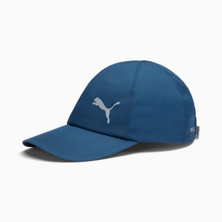 Poly dryCELL Cotton Running Cap, Dark Denim, small