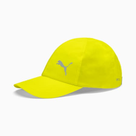 Poly dryCELL Cotton Running Cap, Yellow Alert, small