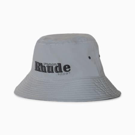 PUMA x RHUDE Bucket Hat, Puma Black-silver reflective, small-SEA
