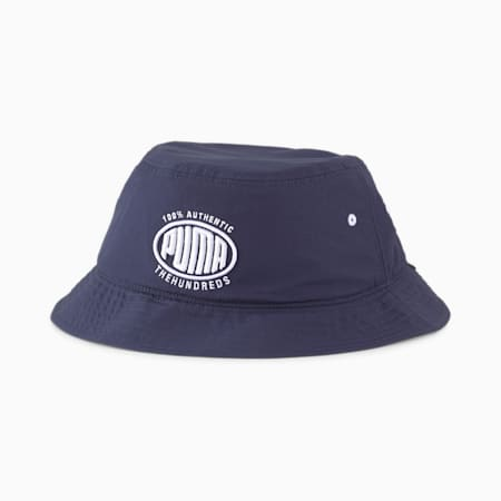 PUMA x THE HUNDREDS Bucket Hat, Peacoat, small-SEA