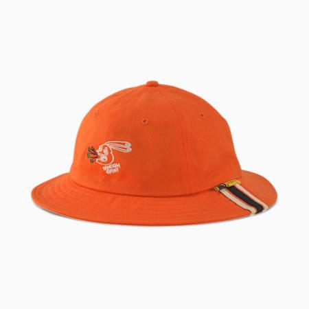 PUMA x RANDOMEVENT Bucket Hat, Vermillion Orange, small-SEA