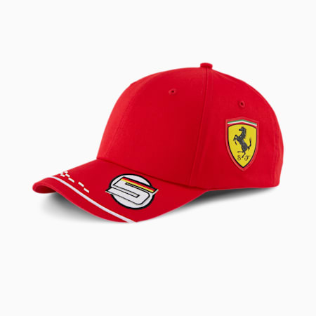 Scuderia Ferrari Replica Vettel Baseball Cap, Rosso Corsa, small
