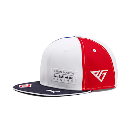 Red Bull Racing Pierre Gasly France '19 Flatbrim Cap, Puma White-Chinese Red, small
