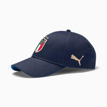 FIGC イタリア チーム キャップ, Peacoat-Team Power Blue, small-JPN