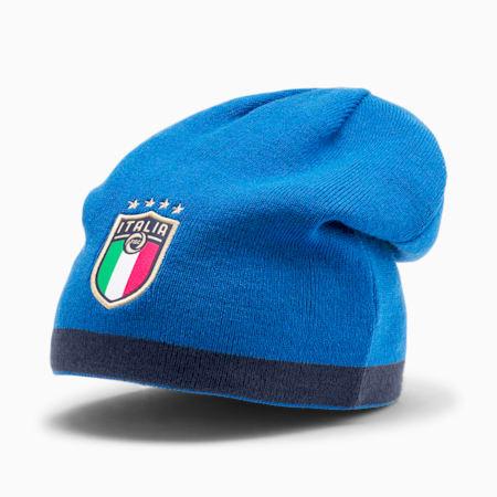 Italia Reversible Beanie, Peacoat-Team Power Blue, small