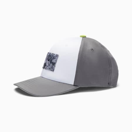 Utility Tournament Patch Men's Golf Cap, Bright White, small-SEA