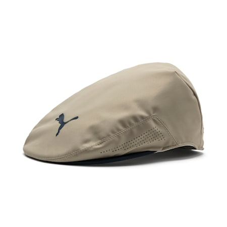 Tour Driver Palms Men's Golf Cap, Pale Khaki, small
