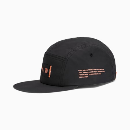 PUMA x FIRST MILE Cap, Puma Black-Fizzy Orange, small-IND