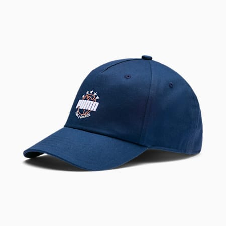 Sustainable Kids' Baseball Cap, Dark Denim, small-SEA