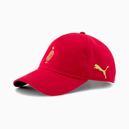 AC Milan 120th Anniversary Baseball Cap, Tango Red -Victory Gold, small